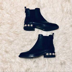 Louise Et Cie Faux Pearl Vinn Chelsea Boots